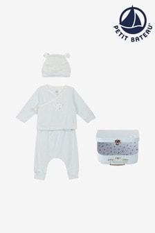 Petit Bateau Blue 3 Piece Outfit Set