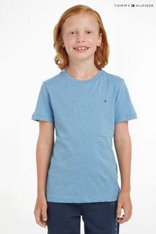 Niebieska koszulka Tommy Hilfiger Basic