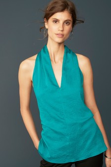 Sleeveless Tie Back Top