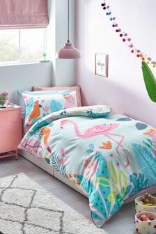 Bright Flamingo Reversible Duvet Cover And Pillowcase Set (916113)   $26 - $40