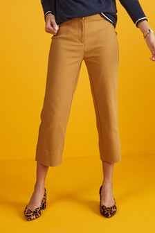 Укороченные брюки прямого кроя