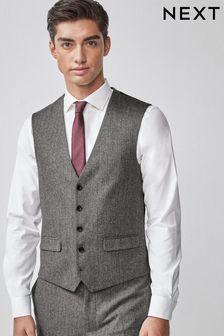 Nova Fides Wool Blend Herringbone Suit: Waistcoat
