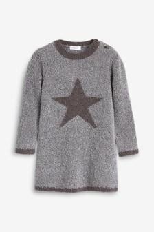 Pulloverkleid mit Sternen (3Monate bis 7Jahre)