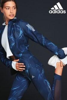 adidas Blue Printed Own The Run Jacket