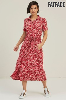 FatFace Scarlet Carey Blooms Midi Shirt Dress