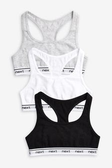 3 Pack Racer Back Crop Tops (Older)