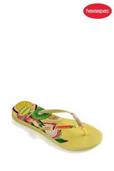 Havaianas® Zehentrenner mit Obstmuster, gelb