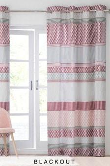 Mini Geo Stripe Eyelet Curtains