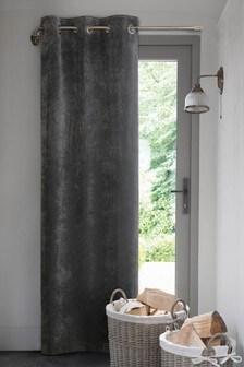 Soft Velour Eyelet Door Curtains