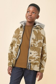 Camo Hooded Shacket (3-16yrs)