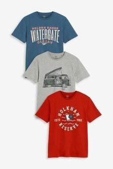 Rajz ábrás pólók, három egy csomagban