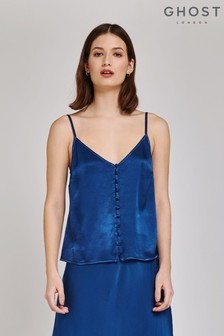 Ghost London Blue Melly Airforce Satin Cami
