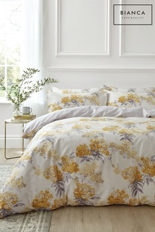 Bianca Juliana Floral 400 Thread Count Cotton Sateen Duvet Cover and Pillowcase Set