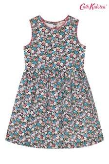 Cath Kidston® Charlotte Mews Kleid mit Streublumenmuster, Weiß