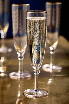 Sada 4 tenkých pohárov na šampanské Freya