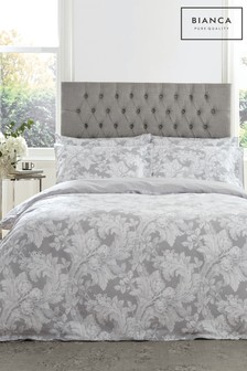 Bianca Renaissance Floral 400 Thread Count Cotton Sateen Duvet Cover and Pillowcase Set