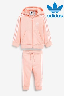 adidas Originals Infant Pink Hoody And Joggers Set