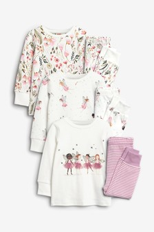 3 Pack Fairy Pyjamas (9mths-8yrs)