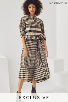Mix/Teija Belted Shirt Dress