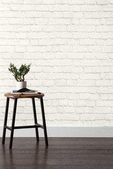 טפט להדבקה על הקיר בצורת קיר לבנים צבוע של Paste The Paper