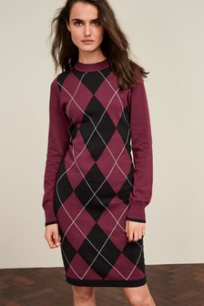 Argyle Jumper Dress