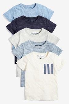 5 Pack Textured T-shirts (3mths-7yrs) (922504)   $25 - $31