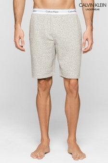 Calvin Klein Modern Pyjama-Shorts aus Baumwolle, grau