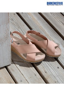 Papillio by Birkenstock® Pink Nubuck Wedge Sandals