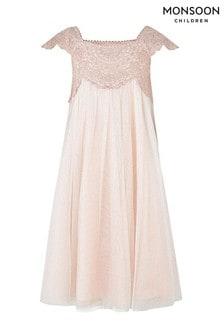 שמלה עם נוצצים של Monsoon דגם Estella בוורוד