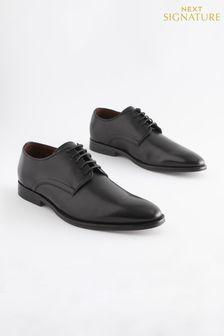 Signature Leather Plain Derby Shoes