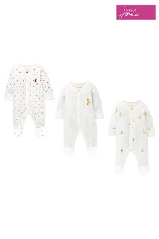 Joules White The Babygrow Three Pack