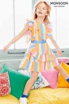 Monsoon Kleid mit Bonbonstreifen, mehrfarbig