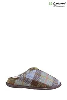 Cotswold Blue Lidstone Slip-On Slippers