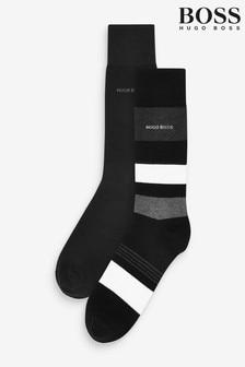 BOSS條紋襪兩雙裝