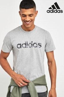 تي شيرت مموه مخطط بشعار من Adidas