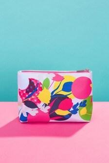 Kvetovaná kozmetická taška