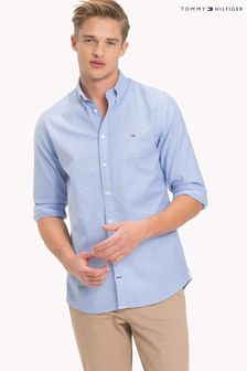 Tommy Hilfiger Blue Slim Oxford Shirt