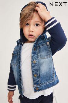 Джинсовая куртка-бомбер (3 мес.-7 лет)