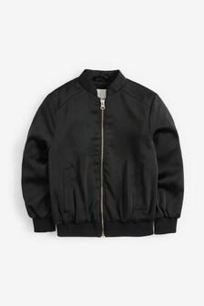 Атласная куртка-пилот (3-16 лет)