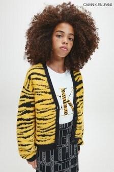 سترة كارديغان صفراء شكل حيواني ناعمة UrbanمنCalvin Klein Jeans