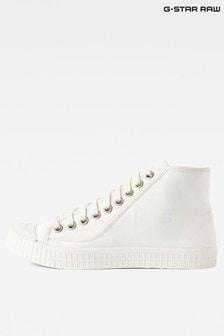 G-Star White Rovulc Mid Sneaker