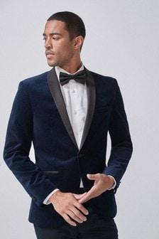 Printed Velvet Tuxedo Jacket