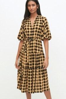 Tiered Volume Sleeve Dress