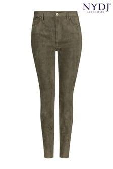 جينز ضيق بطول الكاحل سويد صناعيMartini Olive Alina منNYDJ