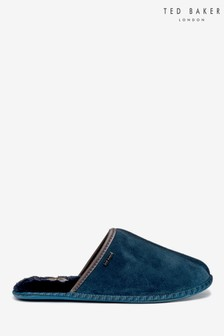 Pantuflas en azul marino Parick de Ted Baker