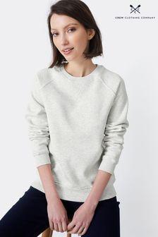 Crew Clothing Company Grey Brushed Back Crew Sweatshirt