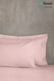 Set of 2 Blush Pink Cool Touch TENCEL™ 200 Thread Count Pillowcases