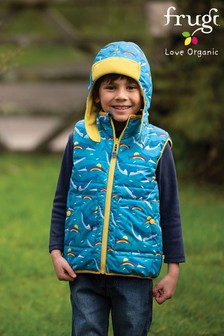 Frugi Blue Reversible Recycled Gilet