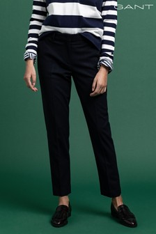 GANT Blue Wool Classic Tapered Trousers