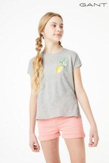 GANT Teen Girl's Summer Embroidery T-Shirt